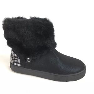 Stuart Weitzman youth girls black booties boots 12